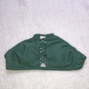 Target green high neck swimsuit top
